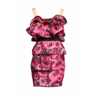 Rare! Lanvin for H&M tiered floral dress - Size 6